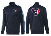 Wholesale Cheap NFL Houston Texans Team Logo Jacket Dark Blue_2