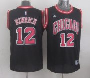 Wholesale Cheap Chicago Bulls #12 Kirk Hinrich Revolution 30 Swingman 2014 New Black Jersey