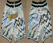 Wholesale Cheap Men's Golden State Warriors White Lightning Just Don Swingman Shorts
