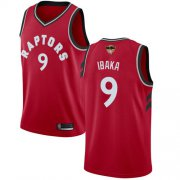 Wholesale Cheap Raptors #9 Serge Ibaka Red 2019 Finals Bound Basketball Swingman Icon Edition Jersey