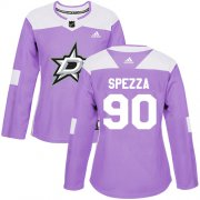 Wholesale Cheap Adidas Stars #90 Jason Spezza Purple Authentic Fights Cancer Women's Stitched NHL Jersey