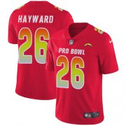 Wholesale Cheap Nike Chargers #26 Casey Hayward Red Men's Stitched NFL Limited AFC 2018 Pro Bowl Jersey