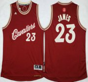 Wholesale Cheap Men's Cleveland Cavaliers #23 LeBron James Revolution 30 Swingman 2015 Christmas Day Red Jersey