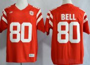 Wholesale Cheap Nebraska Cornhuskers #80 Kenny Bell 2013 Red Jersey
