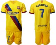 Wholesale Cheap Barcelona #7 Coutinho Away Soccer Club Jersey