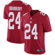 Wholesale Cheap Nike Giants #24 James Bradberry Red Men's Stitched NFL Limited Inverted Legend Jersey