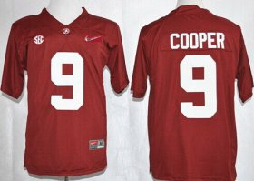 Wholesale Cheap Alabama Crimson Tide #9 Amari Cooper 2015 Playoff Rose Bowl Special Event Diamond Quest Red Jersey