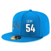 Wholesale Cheap Detroit Lions #54 DeAndre Levy Snapback Cap NFL Player Light Blue with White Number Stitched Hat