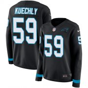 Wholesale Cheap Nike Panthers #59 Luke Kuechly Black Team Color Women's Stitched NFL Limited Therma Long Sleeve Jersey
