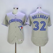 Wholesale Cheap Blue Jays #32 Roy Halladay Grey Flexbase Authentic Collection Stitched MLB Jersey