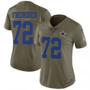 Wholesale Cheap Nike Cowboys #72 Travis Frederick Olive Women's Stitched NFL Limited 2017 Salute to Service Jersey