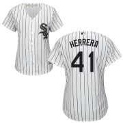 Wholesale Cheap White Sox #41 Kelvin Herrera Women's Cool Base White Stitched MLB Jersey