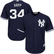 Wholesale Cheap Yankees #34 J.A. Happ Navy Blue New Cool Base Stitched Youth MLB Jersey