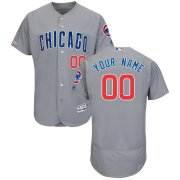 Wholesale Cheap Chicago Cubs Majestic Road Flex Base Authentic Collection Custom Jersey Gray