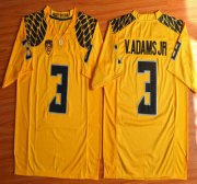 Wholesale Cheap Oregon Duck #3 Vernon Adams Jr Yellow College Football Nike Limited Jersey
