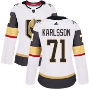 Wholesale Cheap Adidas Golden Knights #71 William Karlsson White Road Authentic Women's Stitched NHL Jersey