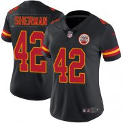 Wholesale Cheap Nike Chiefs #42 Anthony Sherman Black Women's Stitched NFL Limited Rush Jersey
