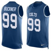 Wholesale Cheap Nike Colts #99 DeForest Buckner Royal Blue Team Color Men's Stitched NFL Limited Tank Top Jersey