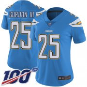 Wholesale Cheap Nike Chargers #25 Melvin Gordon III Electric Blue Alternate Women's Stitched NFL 100th Season Vapor Limited Jersey