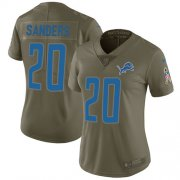 Wholesale Cheap Nike Lions #20 Barry Sanders Olive Women's Stitched NFL Limited 2017 Salute to Service Jersey