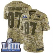 Wholesale Cheap Nike Patriots #87 Rob Gronkowski Camo Super Bowl LIII Bound Men's Stitched NFL Limited 2018 Salute To Service Jersey