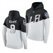 Wholesale Cheap Adidas Los Angeles Kings #9 Adrian Kempe Men's 2020 Stadium Series White Black NHL Hoodie