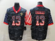 Wholesale Cheap Men's New Orleans Saints #13 Michael Thomas USA Camo 2020 Salute To Service Stitched NFL Nike Limited Jersey