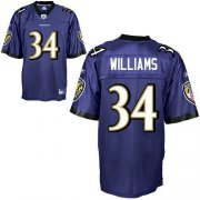 Wholesale Cheap Ravens #34 Ricky Williams Purple Stitched NFL Jersey