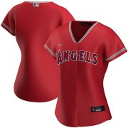 Wholesale Cheap Los Angeles Angels Nike Women's Alternate 2020 MLB Team Jersey Red