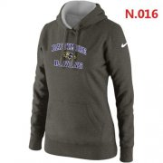Wholesale Cheap Women's Nike Baltimore Ravens Heart & Soul Pullover Hoodie Grey