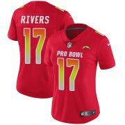 Wholesale Cheap Nike Chargers #17 Philip Rivers Red Women's Stitched NFL Limited AFC 2019 Pro Bowl Jersey