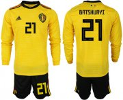 Wholesale Cheap Belgium #21 Batshuayi Away Long Sleeves Soccer Country Jersey