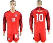 Wholesale Cheap USA #10 Pulisic Away Long Sleeves Soccer Country Jersey