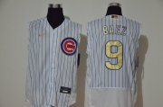 Wholesale Cheap Men's Chicago Cubs #9 Javier Baez White Gold 2020 Cool and Refreshing Sleeveless Fan Stitched Flex Nike Jersey