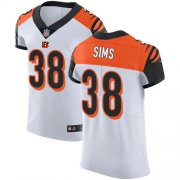 Wholesale Cheap Nike Bengals #38 LeShaun Sims White Men's Stitched NFL New Elite Jersey