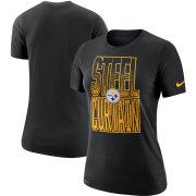 Wholesale Cheap Pittsburgh Steelers Nike Women's Local Verbiage Performance T-Shirt Black