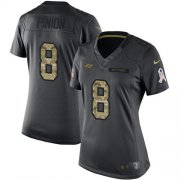 Wholesale Cheap Nike Buccaneers #8 Bradley Pinion Black Women's Stitched NFL Limited 2016 Salute to Service Jersey