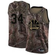 Wholesale Cheap Nike Golden State Warriors #34 Shaun Livingston Camo NBA Swingman Realtree Collection Jersey