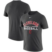 Wholesale Cheap Cleveland Indians Nike Practice Performance T-Shirt Anthracite