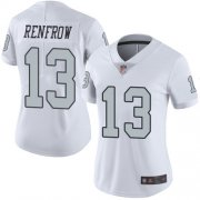 Wholesale Cheap Nike Raiders #13 Hunter Renfrow White Women's Stitched NFL Limited Rush Jersey