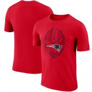 Wholesale Cheap Men's New England Patriots Nike Red Fan Gear Icon Performance T-Shirt