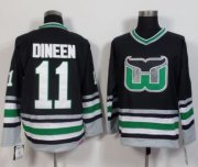 Wholesale Cheap Whalers #11 Kevin Dineen Black CCM Throwback Stitched NHL Jersey