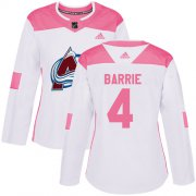 Wholesale Cheap Adidas Avalanche #4 Tyson Barrie White/Pink Authentic Fashion Women's Stitched NHL Jersey