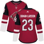 Wholesale Cheap Adidas Coyotes #23 Oliver Ekman-Larsson Maroon Home Authentic Women's Stitched NHL Jersey