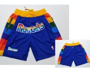 Wholesale Cheap Nuggets Blue Just Don Mesh Shorts