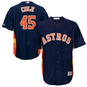 Wholesale Cheap Astros #45 Gerrit Cole Navy Blue Cool Base Stitched Youth MLB Jersey