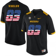 Wholesale Cheap Missouri Tigers 83 Kellen Winslow Black USA Flag Nike College Football Jersey