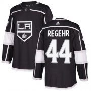 Wholesale Cheap Adidas Kings #44 Robyn Regehr Black Home Authentic Stitched NHL Jersey