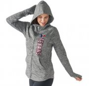 Wholesale Cheap Women's NFL Houston Texans G-III 4Her by Carl Banks Recovery Full-Zip Hoodie Heathered Gray