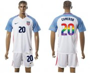 Wholesale Cheap USA #20 Cameron White Rainbow Soccer Country Jersey